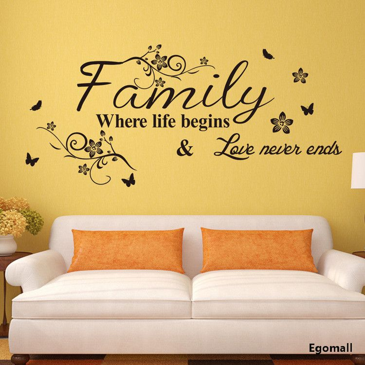 EMIRACLEZE Christmas Gift Holiday Shopping Warm And Sweety Family Love Removable  Mural Wall Stickers Wall Decal For Living Room Home Decor Wall Stickers ... Part 74