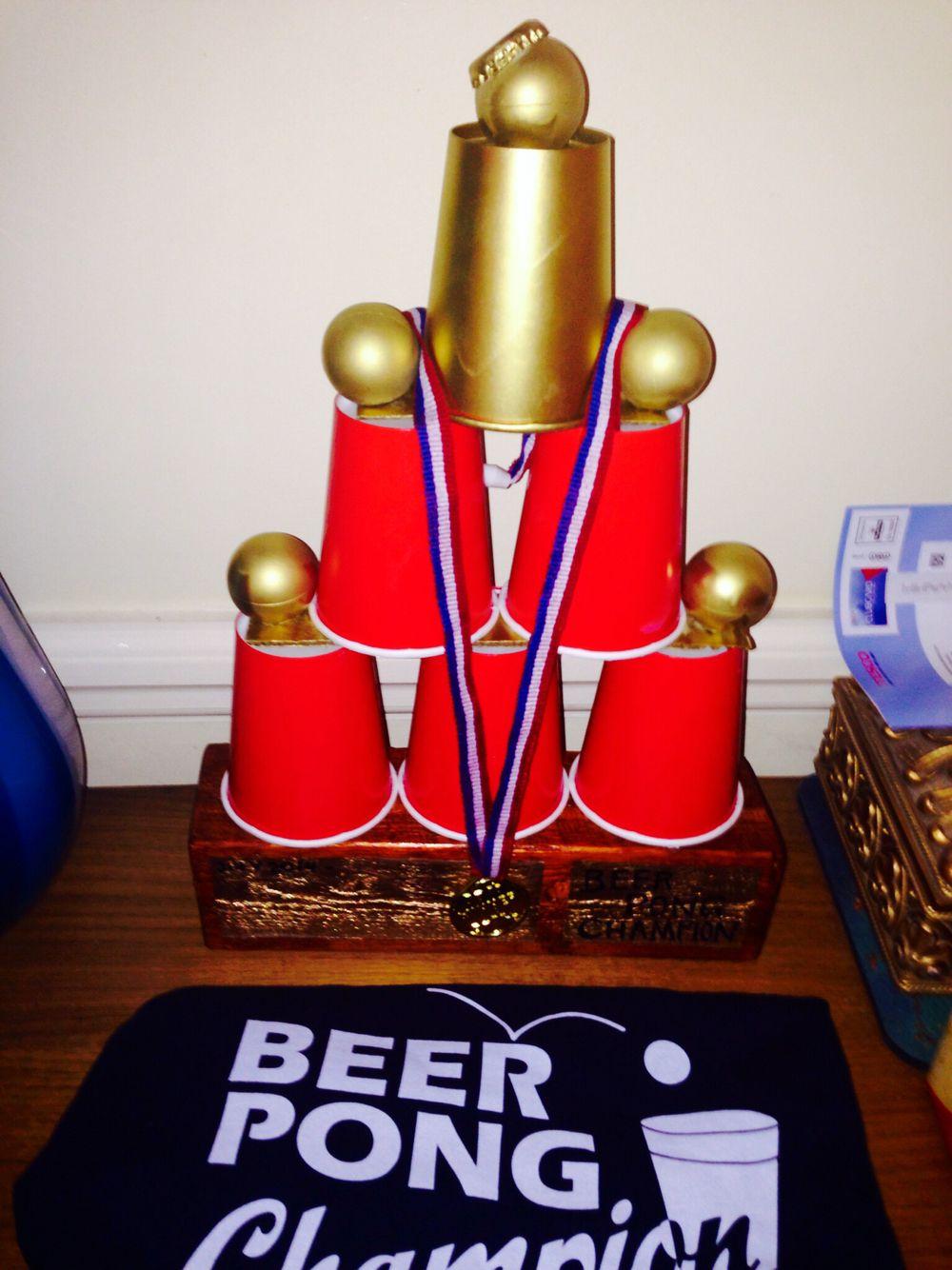 Beer Pong Trophy Pinterest hawaiimeshele Beer pong