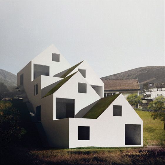 On Office is part of architecture - On Office (Joao Vieira Costa, Leon Rost, Ricardo Guedes, Francesco Moncada) designed a housing project located right outside Oslo  Since the