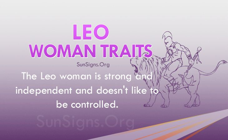 Personality traits of a leo woman