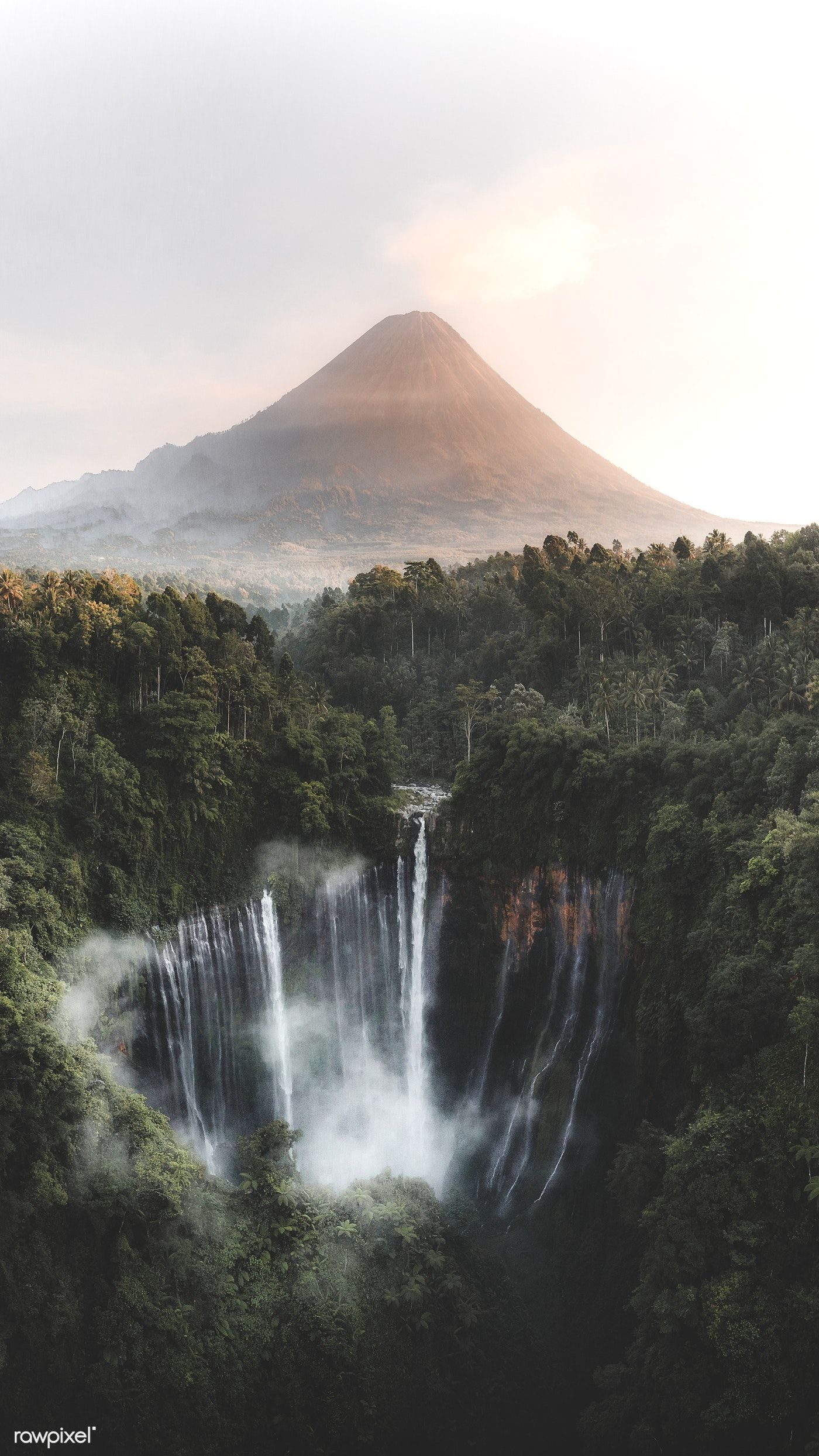 Download premium image of View of Mount Bromo and Tumpak