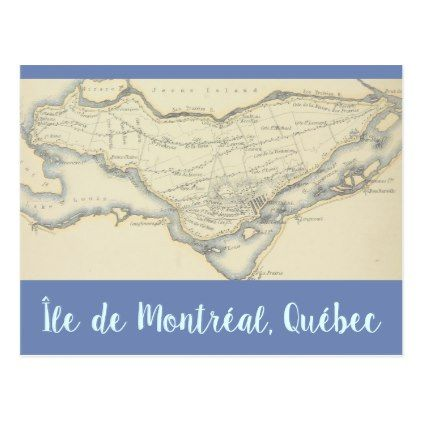 Vintage map of the island of montreal quebec postcard montreal quebec vintage map of the island of montreal quebec postcard cyo customize design idea do solutioingenieria Image collections