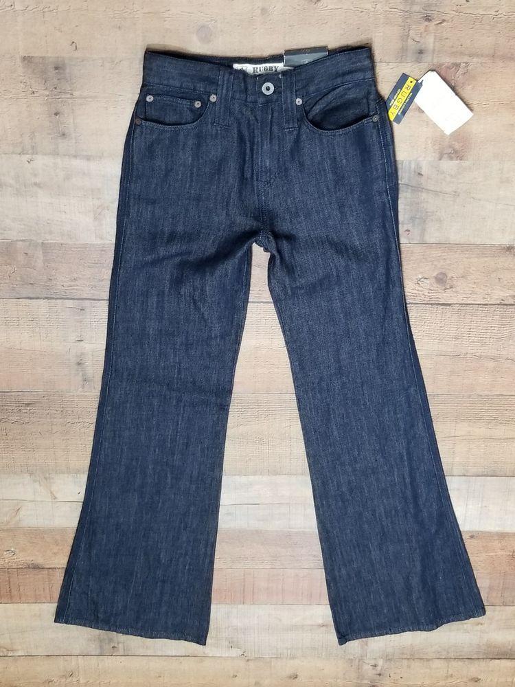 d18ede2ec3c Womens Ralph Lauren Rugby Jeans size 24 High Waisted Wide Leg NWT Dark  linen  RalphLaurenRugby  WideLeg