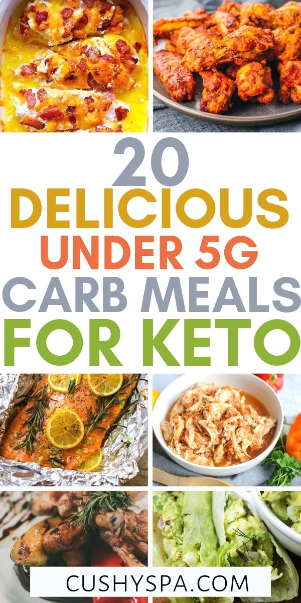 20 Delicious Under 5g Carb Meals for the Keto Diet #ketorecipesforbeginners