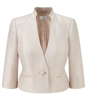 Petite Gold Satin Trim Jacket