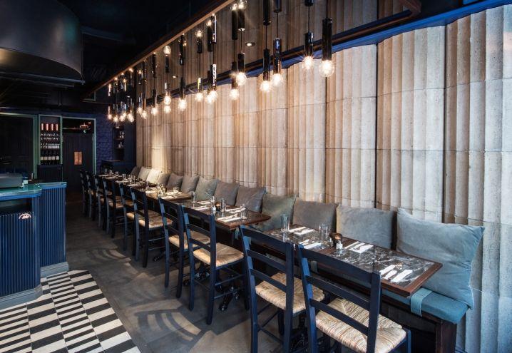 Greco Mobili ~ Gli interni di suvlaki ristorante greco nel quartiere di soho a