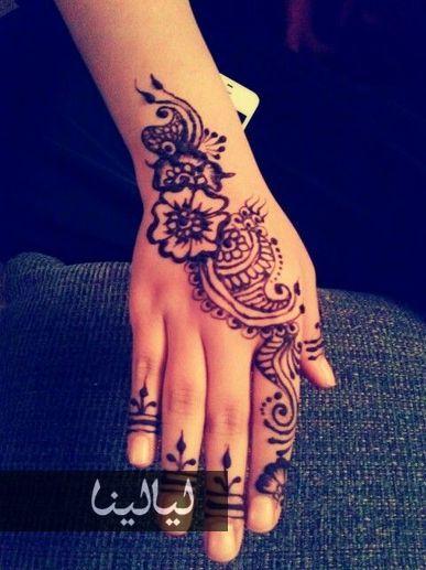 حنا العيد نقوش حناء مميزة لتزيني بها يديك في العيد موقع ليالينا Henna Designs Henna Henna Patterns