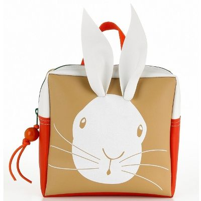 Bunny Toddler Backpack. Love the carrot stamped back as well