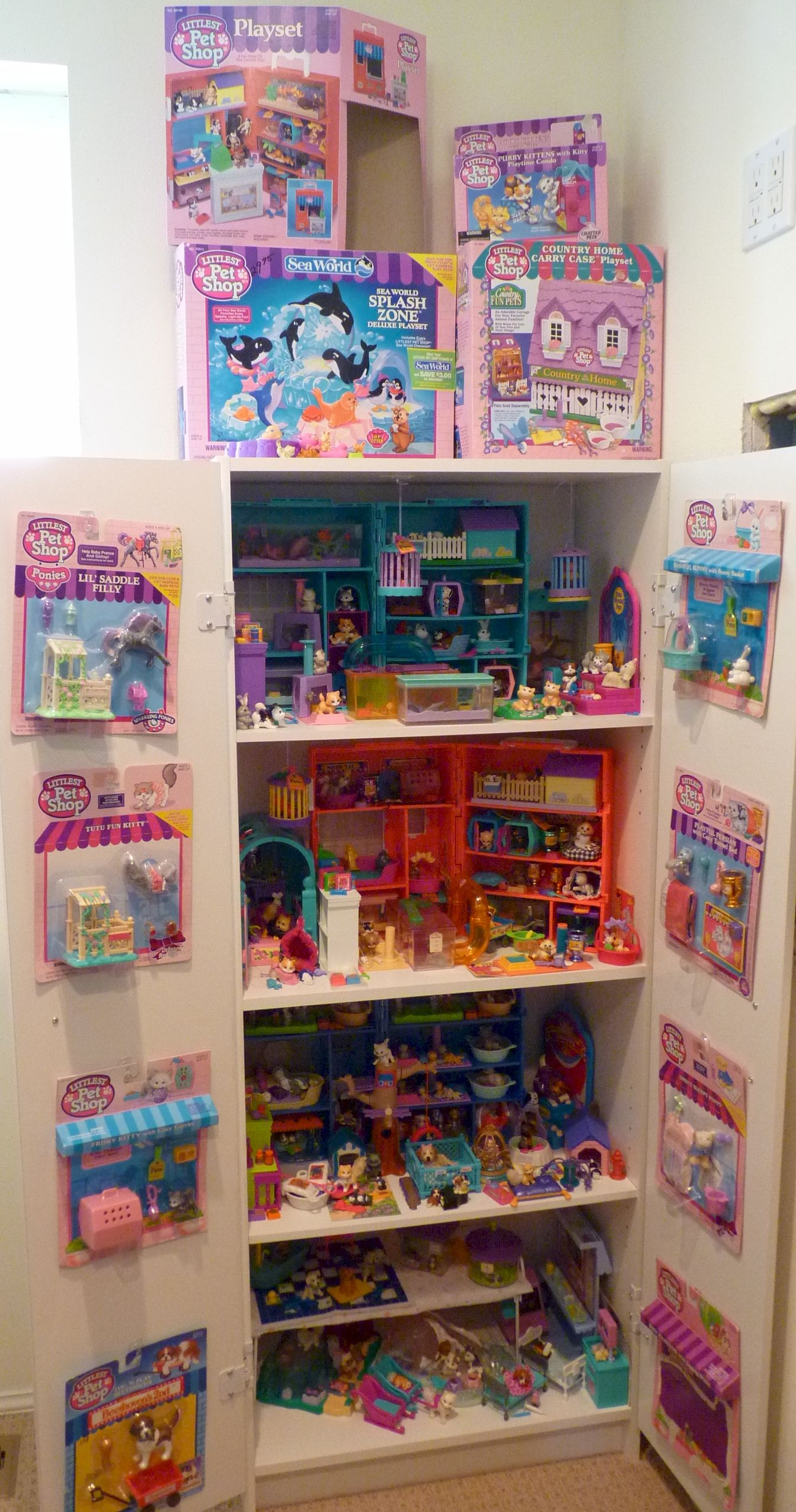 inside the big cabinet  My LPS Collection  1990s toys