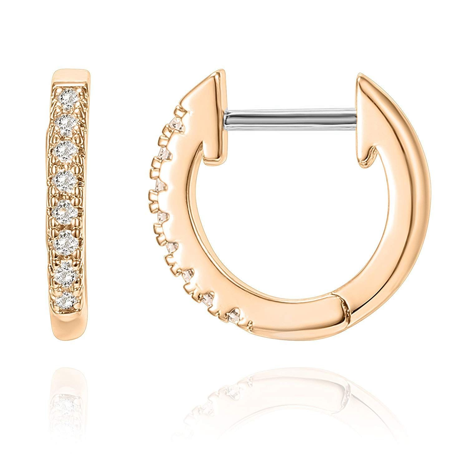 d645c2634 PAVOI 14K Gold Plated Cubic Zirconia Cuff Earrings Huggie Stud earrings of  gold   earrings studs   earrings holder   earrings for women   earrings  rose gold ...