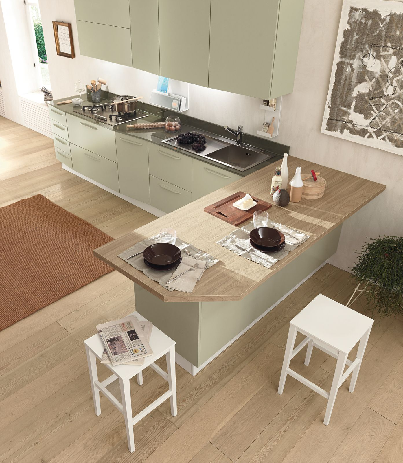 Cucine con grandi piani di lavoro | Kitchens, Interiors and Kitchen ...