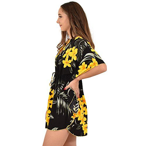 88aa84cfa0 ISLAND STYLE CLOTHING Ladies Poncho Dress Floral Leaf Cover Up Resort  Cruisewear, #Ad #