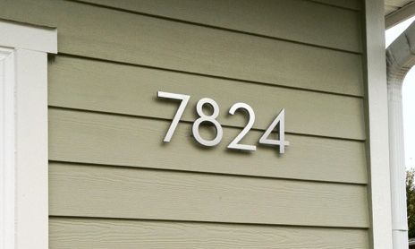 Beautiful House Numbers Stuff Pinterest Contemporary House - Contemporary house numbers