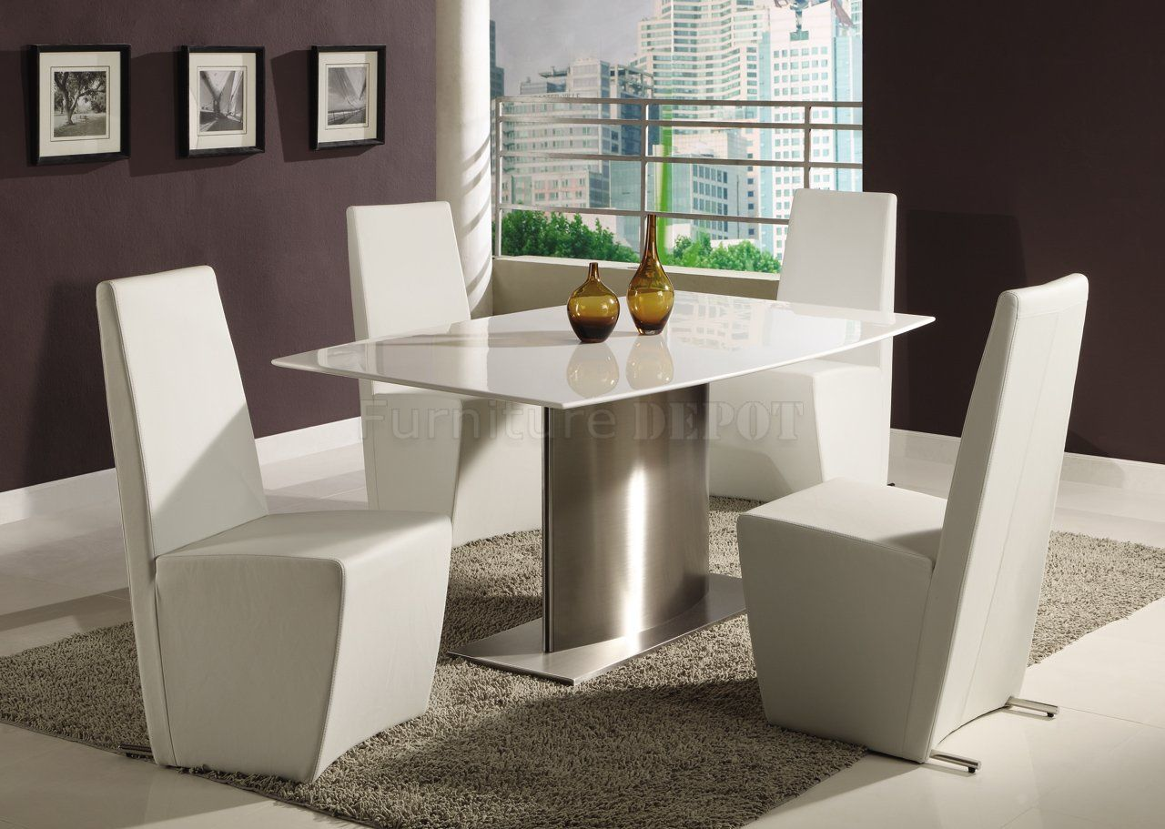 Modern Formal Dining Room Sets | Modern Dining Room Table W/White Marble Top  U0026