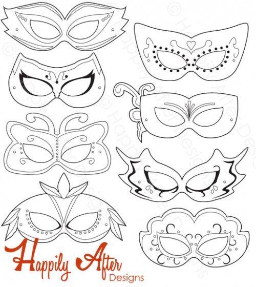 Masquerade Ball Printable Coloring Masks Masquerade Mask