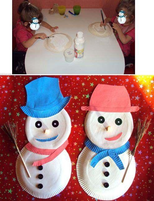 Bonhommes de neige bricolage avec mon fils pinterest bonhomme de neige bonhomme et neige - Pinterest bonhomme de neige ...