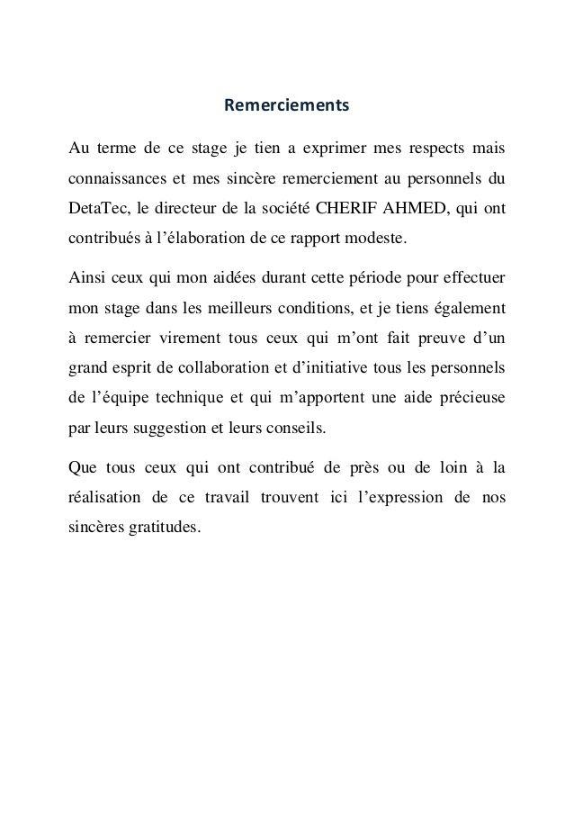Rapport De Stage En Espagnol