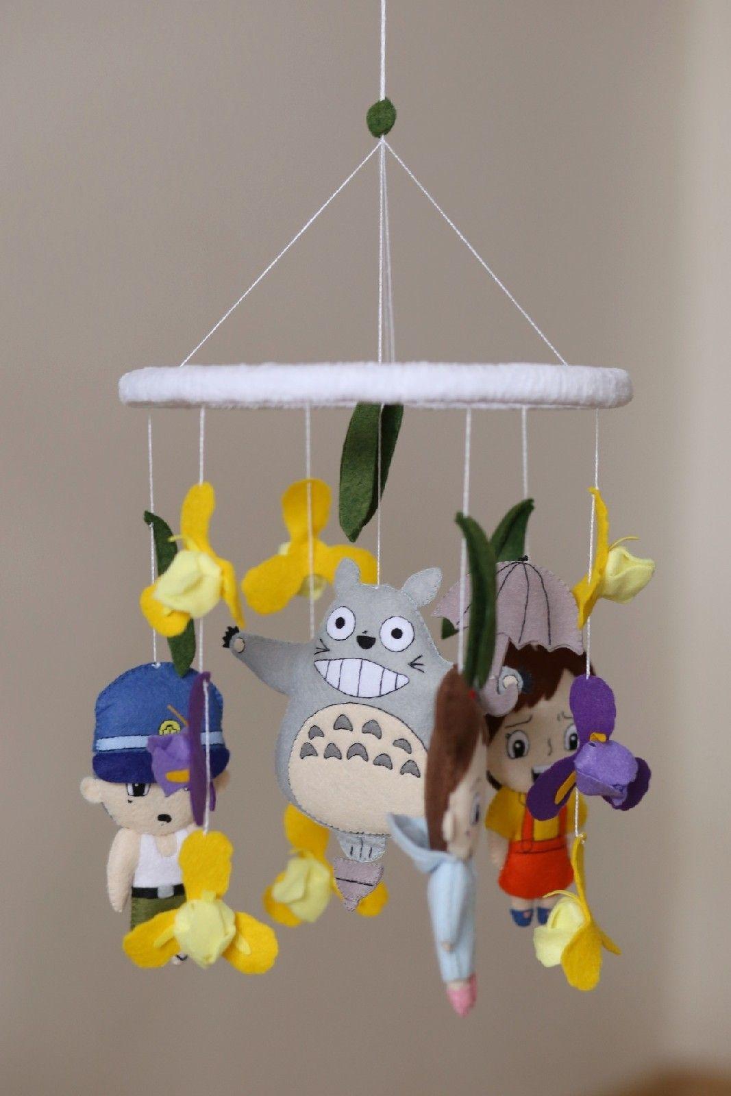 Totoro nursery room neutral mobile geek baby toy ghibli