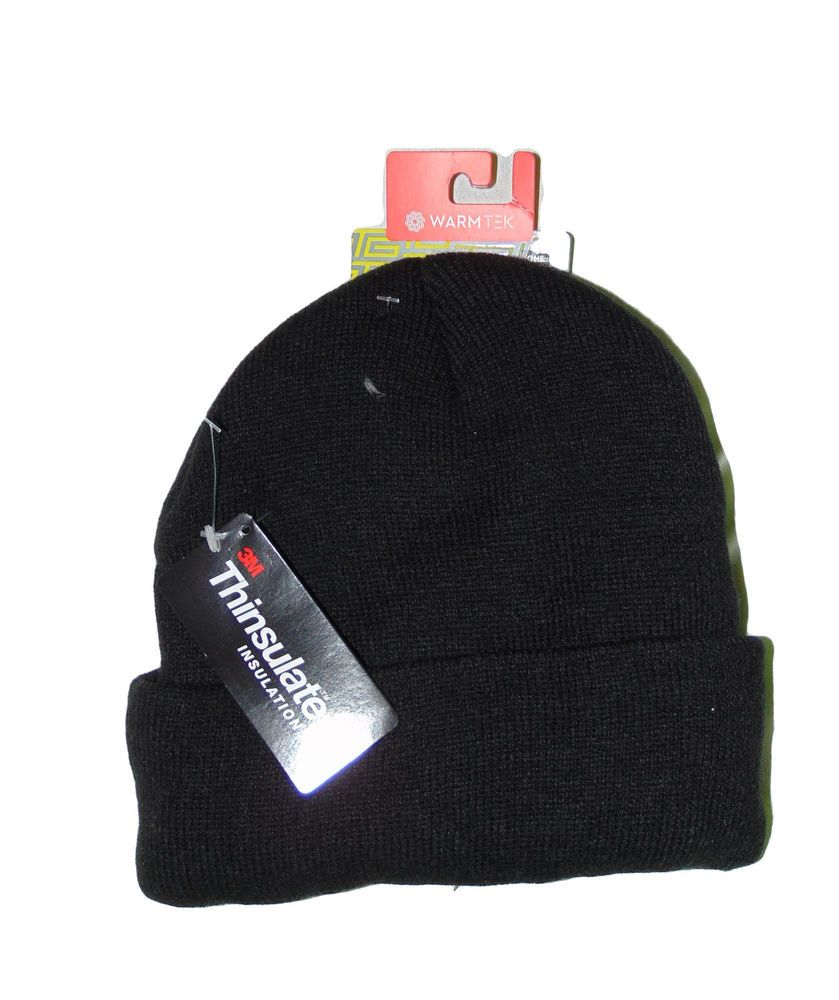 Details about Mens Thinsulate Thermal Winter Beanie Hat - One Size ... 15492a06c69