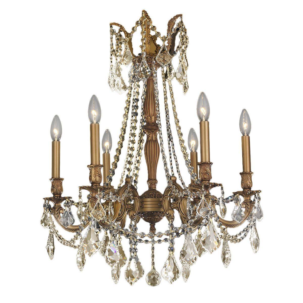 Italian elegance collection 6 light french gold finish and golden italian elegance collection 6 light french gold finish and golden teak crystal ornate chandelier 23 arubaitofo Choice Image
