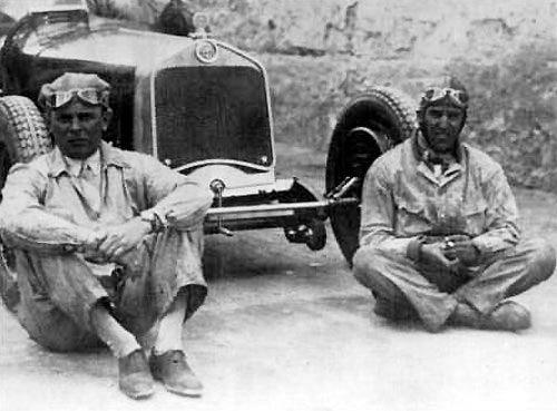 1930 , Achile Varzi and  Tazio Nuvolari with Alfa Romeo P2