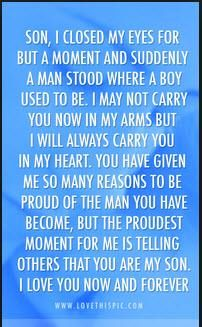 My Boys Are Growing Up So Fast Son Quotes I Love My Son Words