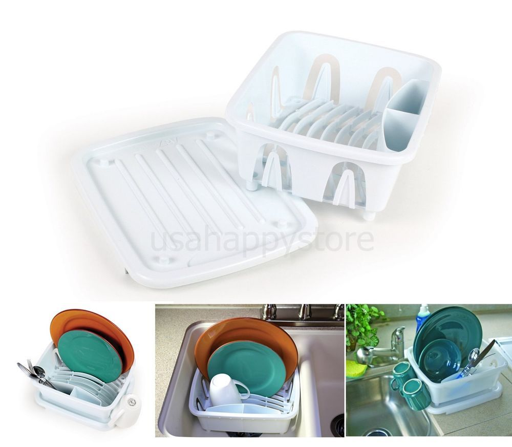Dish Drainer Tray Mini Drying Rack Holder Rv Marine Sink Kitchen Organizer Cup Camco