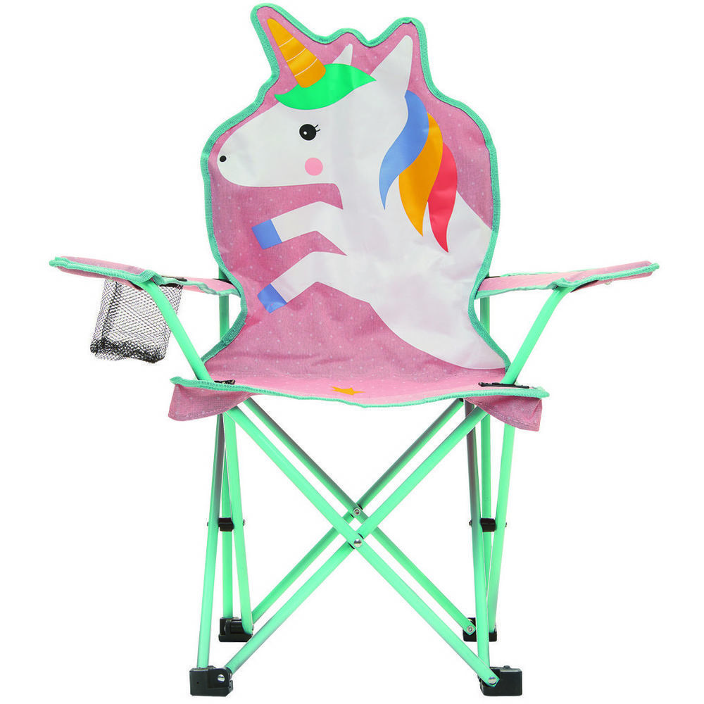 Quest Childrens Fun Unicorn Folding Camping Chair
