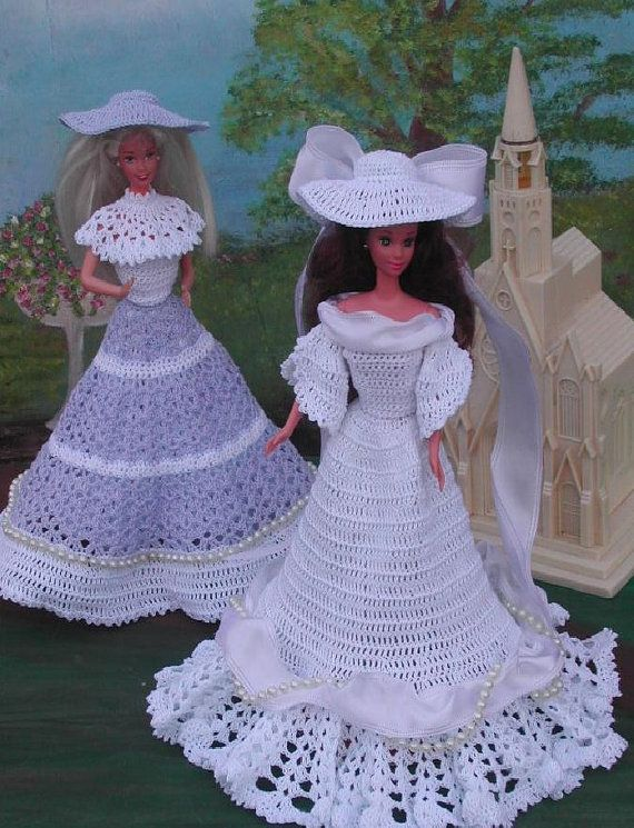 Crochet Fashion Doll Barbie Pattern- #40 WEDDING PARTY ...