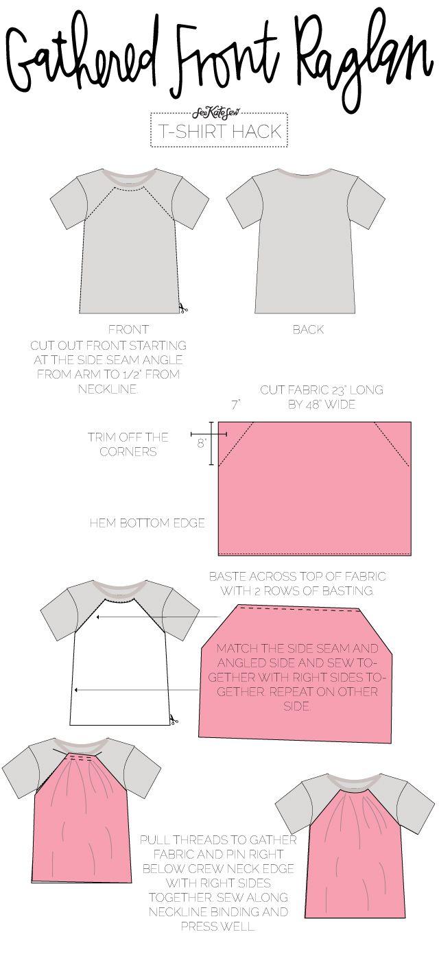 10 ways to refashion a t-shirt | Costura, Molde y Patrones