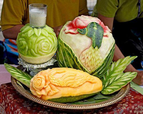 Chinatown festival toronto carved fruit fruit vegi