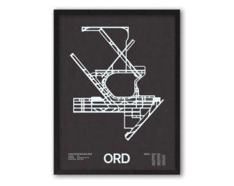ORD: Chicago O'Hare International Airport Screenprint