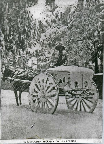 A Katoomba milkman on his rounds 1908