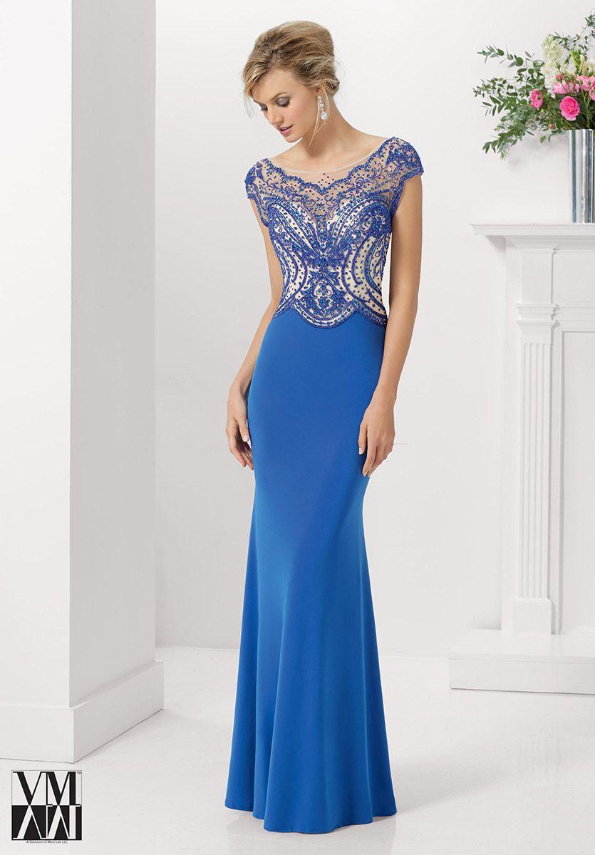 VM Collection 70902 Long MOB Dress with Sheer Bolero