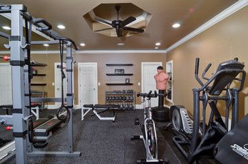 St Marlo Basement Remodel - traditional - home gym - atlanta - Home Expressions Interiors by Laura Bloom Inc.