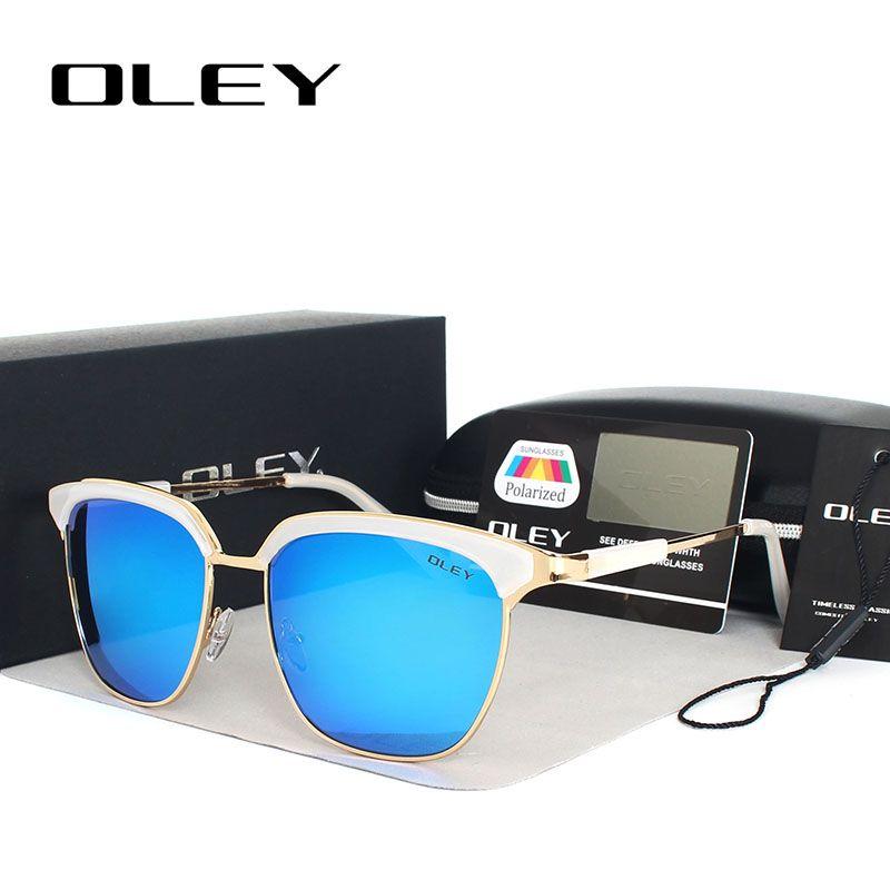 852c07142fd OLEY Polarized Sunglasses Women luxury Brand Designer Cat-eye Metal Sun  Glasses Goggles woman Points Oculos sol feminino Y9720