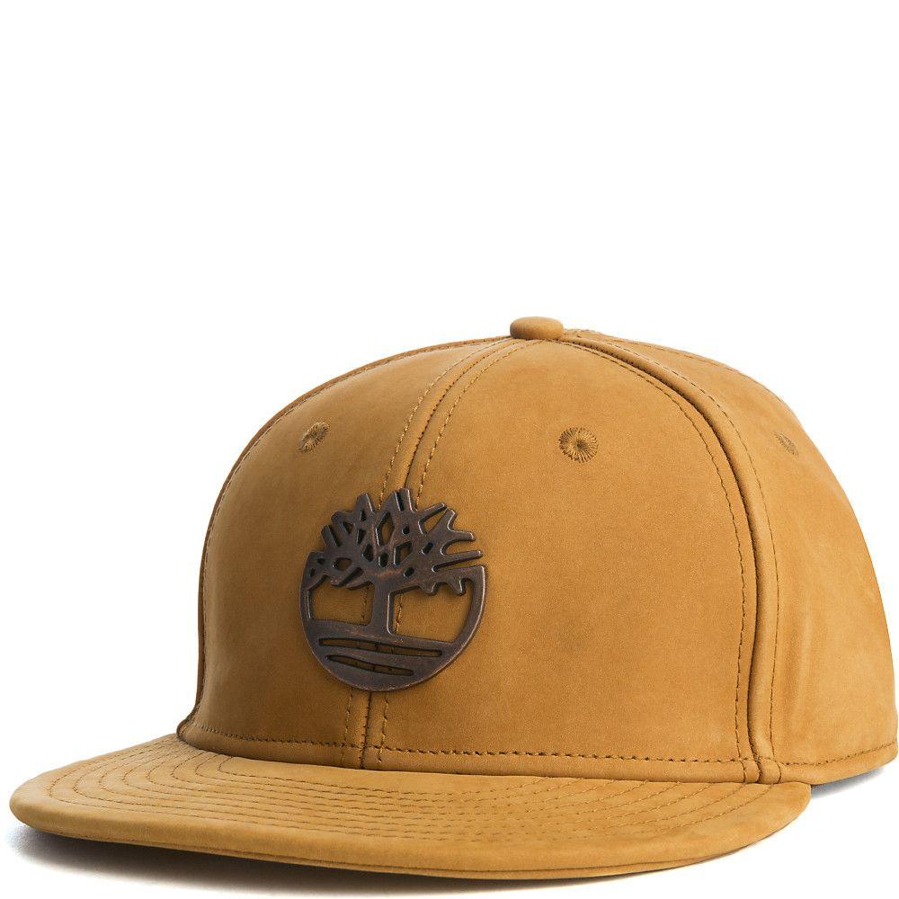 43b3ec4c26a Timberland Metal Charm Snapback Hat Wheat
