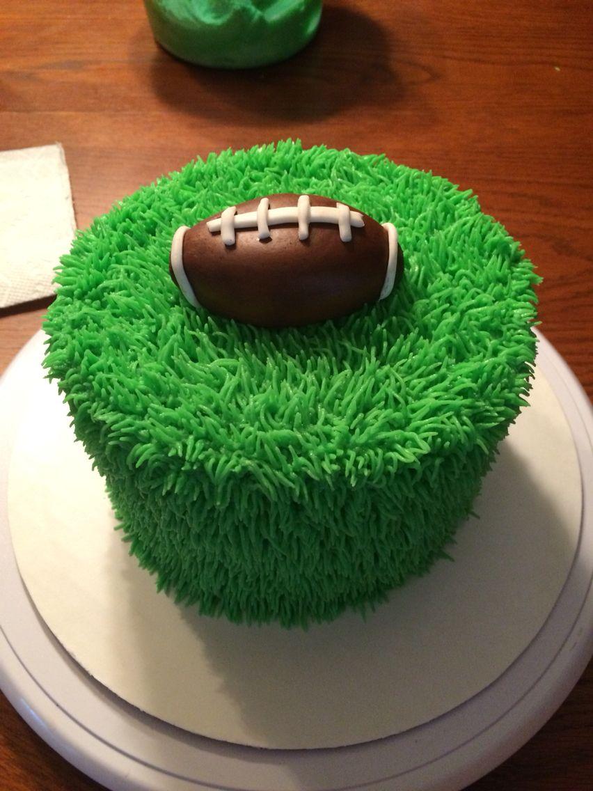 Football Smash Cake Football Cakes For Boys Grass Cake
