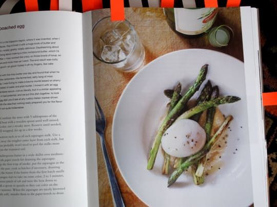 Recipe Review:   Momofuku's Pan-Roasted Asparagus with Poached Egg and Miso Butter
