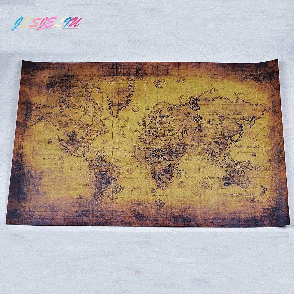 NEUE Hochwertige Large Vintage Style Retro Papier Poster Globe Weltkarte  Geschenke 71*51 Cm Dekoration