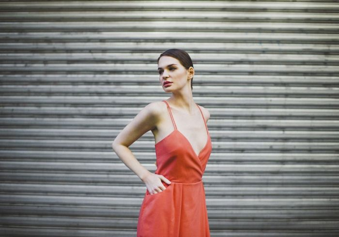 Susan dress - Spring-Summer 2015 collection. Wedding style inspiration. Bespoke short coral dress. Paris & London. #style