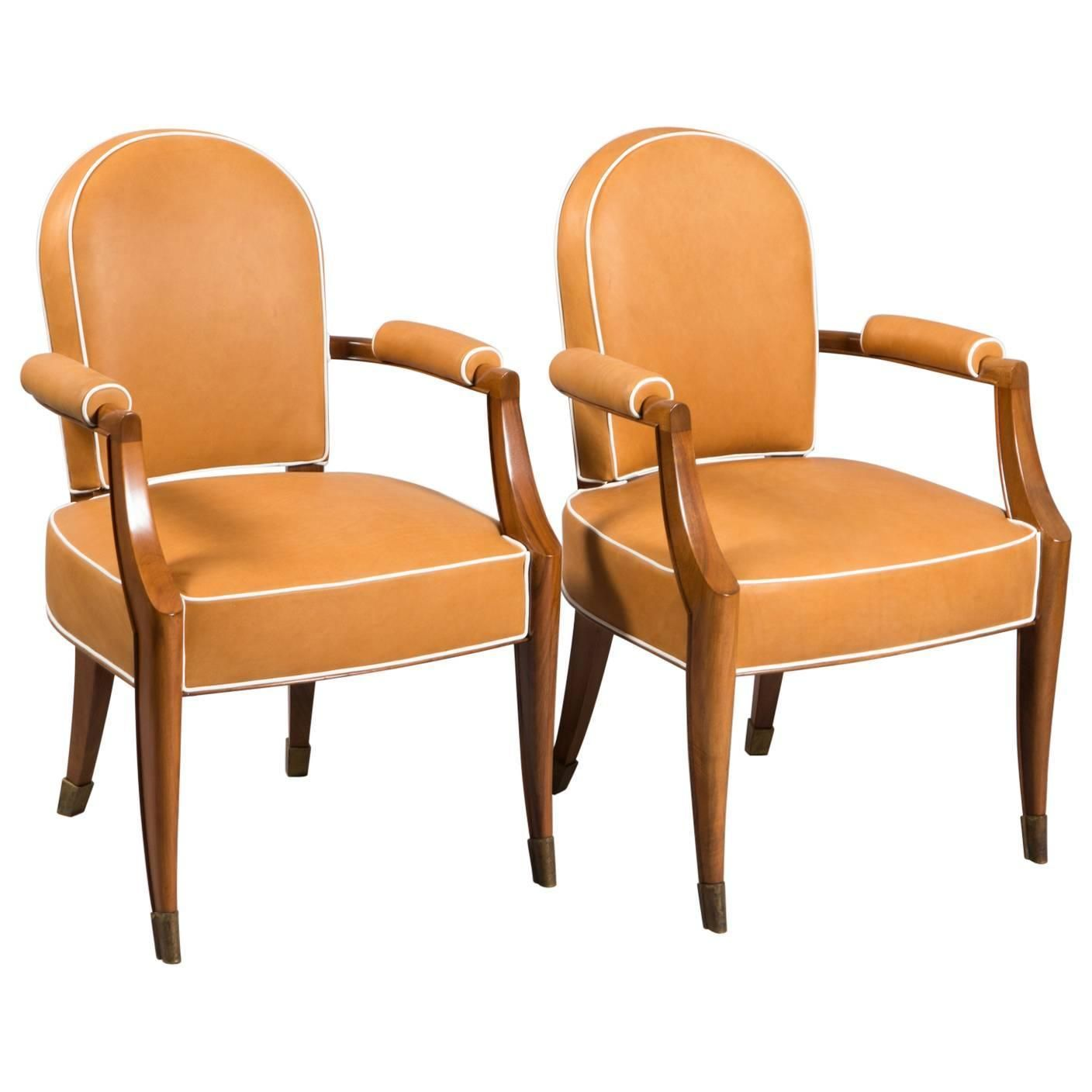 Pair Of 1stdibs Wood Deco Armchairs Art Deco French Chairs ...