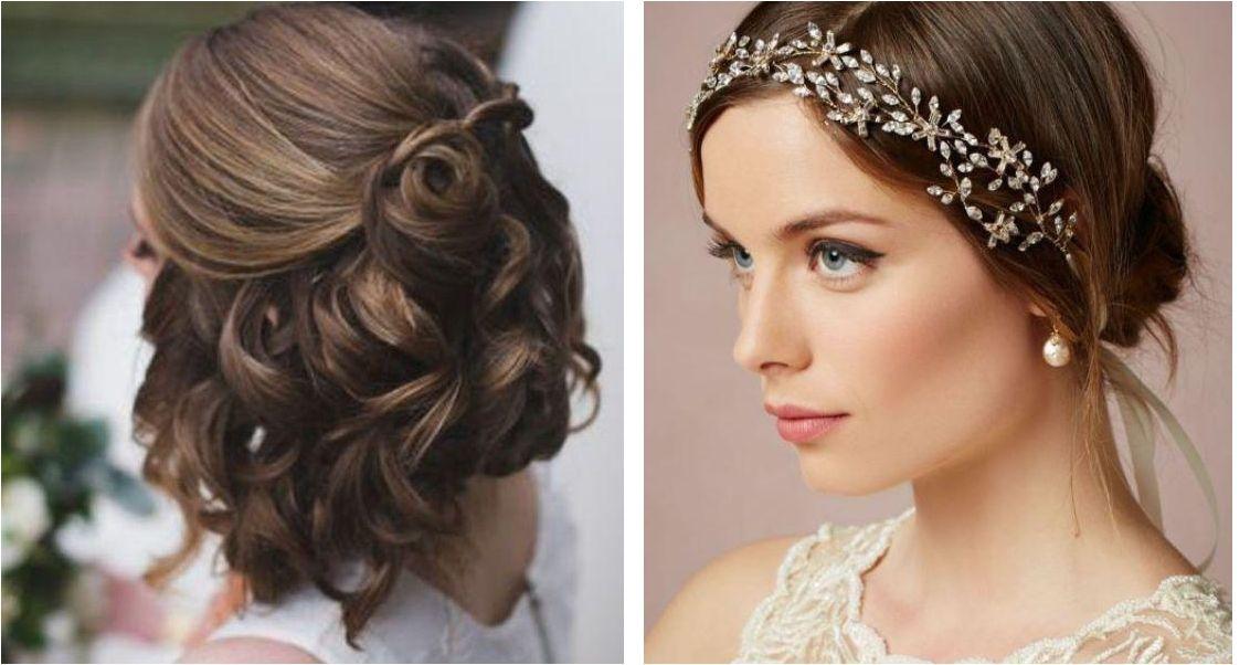 Peinados de novia en media melena