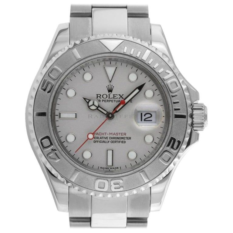 Rolex - 16622 Random Yachtmaster Platinum Stainless Swiss Automatic Watch Contemporary Steel