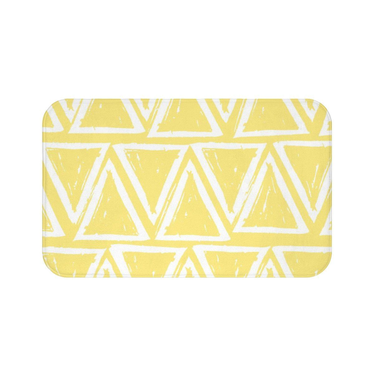 Butter Yellow Bath Mat Yellow And White Bath Mat Triangle