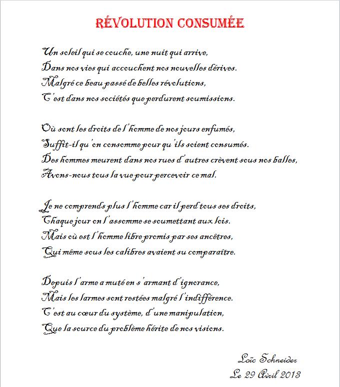 39 Revolution Consumee Poeme Poesie Revolution