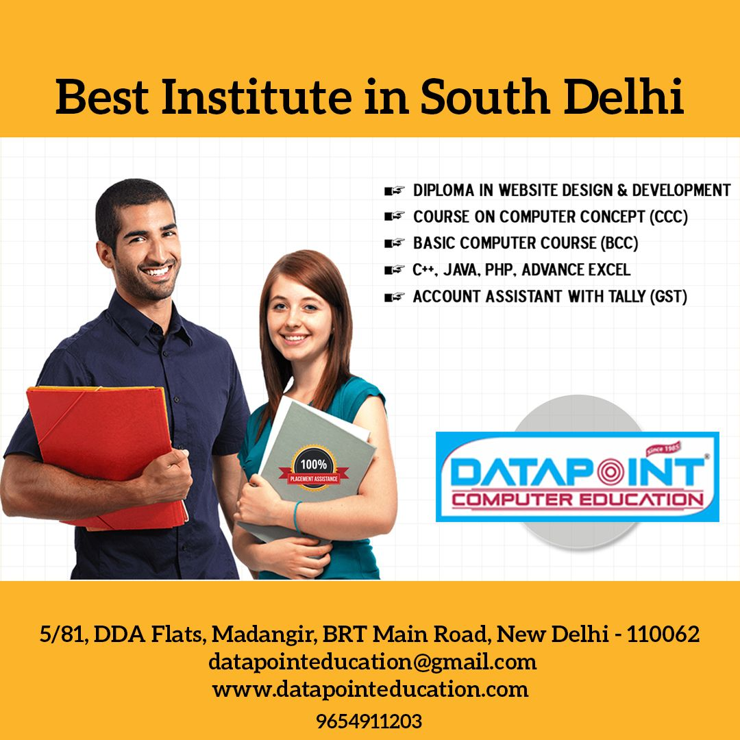 Data Point Computer Training Institute In South Delhi Computer Education Happy Students Peer Learning