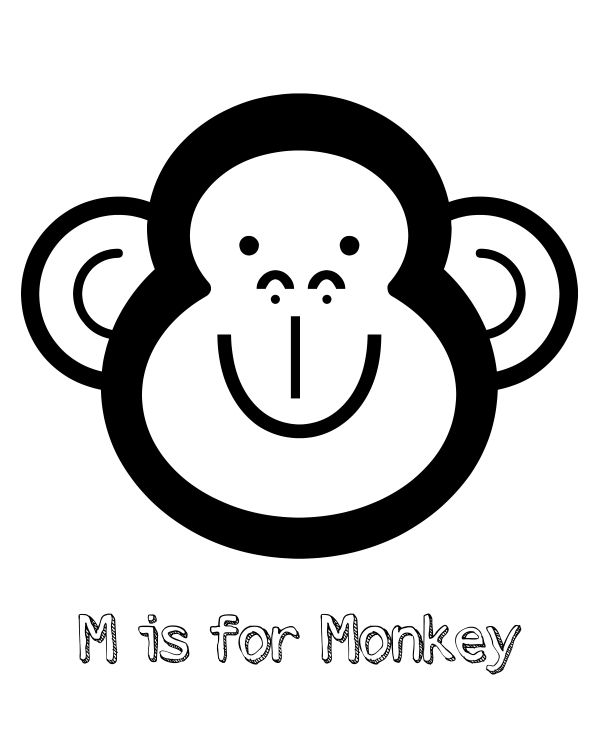 Free Printable M Is For Monkey Coloring Page Monkey Coloring