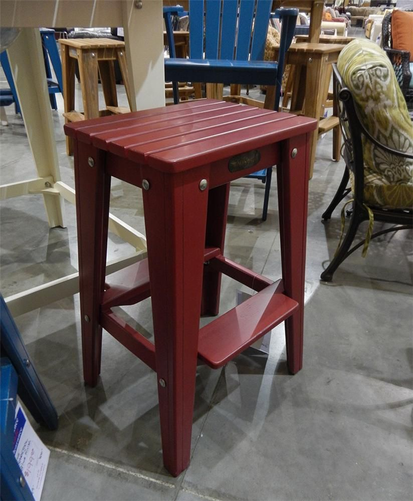 Fishtales Outdoor Red Barstool Belfort Furniture