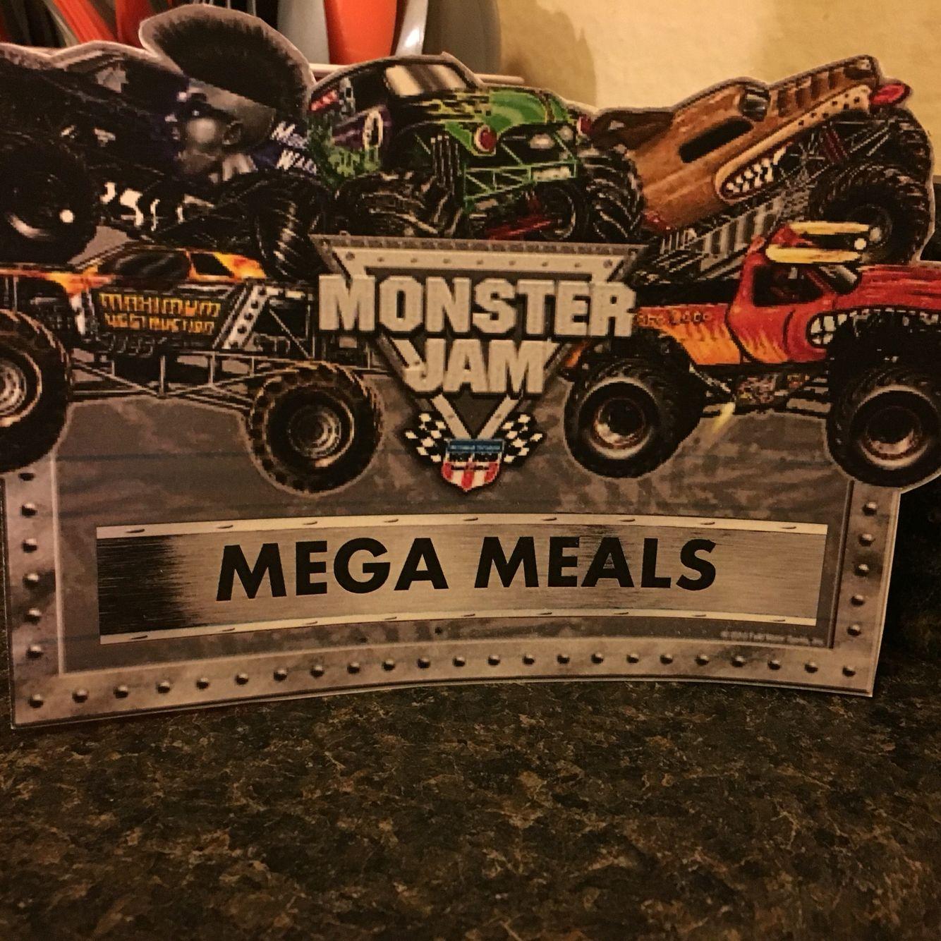 Monster Jam meal sign